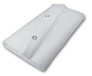 Cortina para aislamiento acústico con acabado blanco a 2 caras