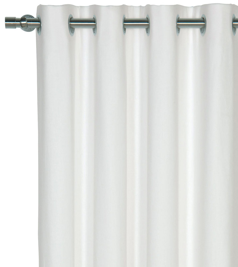 Acabado en blanco crudo para cortinas acústicas a 2 caras