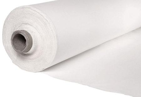 Acabado blanco crudo para cortinas acústicas